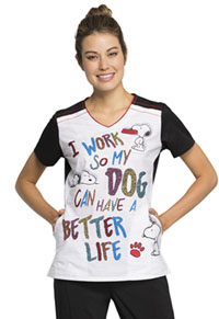 V-Neck Top A Better Life (TF608-PNET)