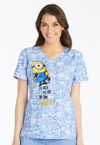 Tooniforms Mock Wrap Top My Own Minion (TF611-DPOM)