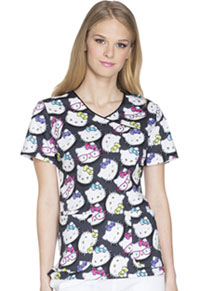 Tooniforms Mock Wrap Top Hello Kitty Glasses (TF611-HKGS)