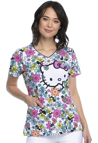 Tooniforms V-Neck Top Flower Shop (TF614-HKFS)