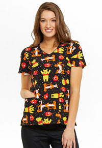 Tooniforms V-Neck Top A Bear Likes Honey (TF614-PHAB)