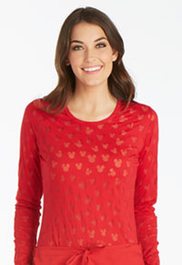 Tooniforms Long Sleeve Underscrub Knit Tee Ears Mickey Red (TF621-MKER)