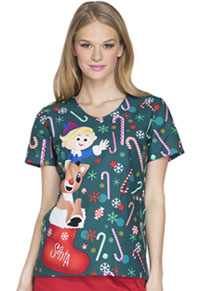 Tooniforms V-Neck Top Rudolph Candyland (TF626-RUCL)