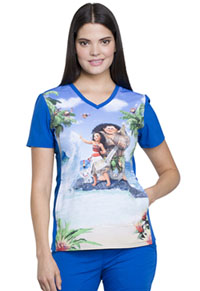 Tooniforms V-Neck Top Maui And Moana (TF627-MHMM)