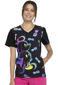 Tooniforms V-Neck Top Mickey Pineapple (TF627-MKYI)