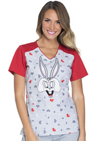 Tooniforms V-Neck Top Bugs Hearts U (TF632-LTHU)