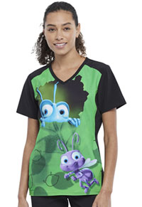 Tooniforms V-Neck Top Flik And Dot (TF637-BFFD)