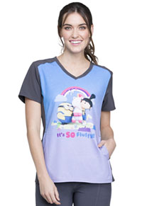 Tooniforms V-Neck Top Minions Rainbow (TF637-DPMR)