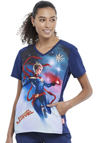 Tooniforms V-Neck Top Captain Marvel (TF637-MARV)