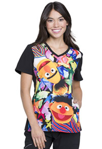 Tooniforms V-Neck Top Bert and Ernie (TF637-SWBA)