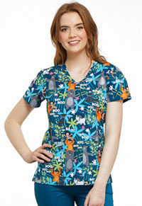 Tooniforms V-Neck Top Jungle Jazz (TF638-JBNG)
