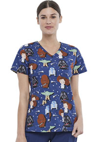 Tooniforms V-Neck Top Star Watchers (TF638-SRWA)