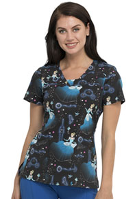 Tooniforms V-Neck Top Stroke Of Midnight (TF641-PRSO)