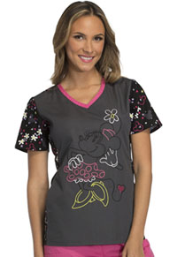 Tooniforms V-Neck Top Minnie Confetti (TF643-MNCO)