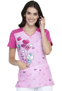Tooniforms V-Neck Top Hello Kitty Balloons (TF645-HKNT)