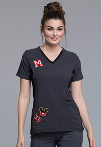 Tooniforms V-Neck Top with Contrast Team Mickey (TF657-MKTM)