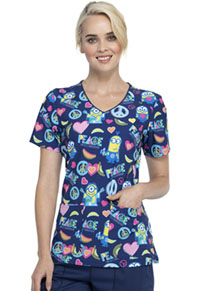 Tooniforms V-Neck Top Love And Bananas (TF659-DPAB)
