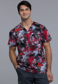 Tooniforms Men's V-Neck Top Ant-Man (TF675-MAAM)