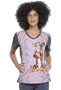 Tooniforms V-Neck Top Tiggerific (TF677-PHTI)