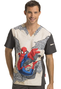 Tooniforms Men's V-Neck Top Web Crawler (TF700-MAHO)