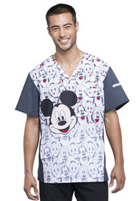 Tooniforms Men's V-Neck Top Mickey and Friends (TF700-MKAF)