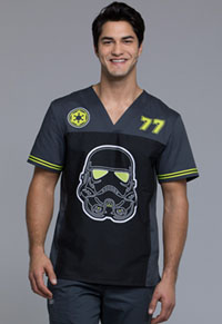 Tooniforms Men's V-Neck Top Trooper 77 (TF702-SRTSD)