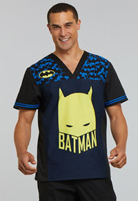 Tooniforms Men's V-Neck Top Caped Crusader (TF703-DMCC)