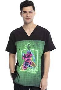 Tooniforms Men's V-Neck Top Goofy Neon (TF712-MKFY)