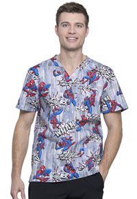 Tooniforms Men's V-Neck Top Webbed Wonder (TF740-MADE)