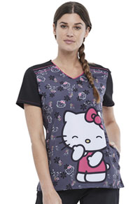 Tooniforms V-Neck Top Hello Kitty Kisses (TF745-HKSS)