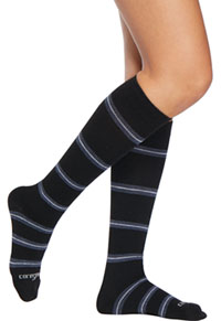 Therafirm 15-20Hg Mild Support Sock Black/Gray/Navy Stripes (TFCS107-BGNS)