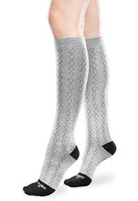 Therafirm 15-20Hg Mild Support Sock Diamond Grey / Black (TFCS107-DGB)