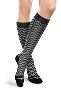 Therafirm 10-15Hg Light Support Sock Black/Grey Chevron (TFCS116-BKCH)