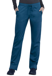 Cherokee Workwear Mid Rise Straight Leg Drawstring Pant Caribbean Blue (WW005-CAR)