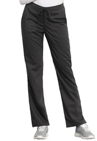 Cherokee Workwear Mid Rise Straight Leg Drawstring Pant Pewter (WW005-PWT)