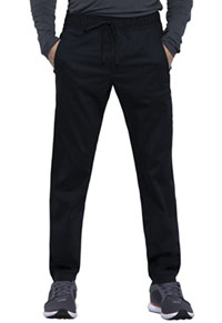 Cherokee Workwear Men's Natural Rise Straight Leg Jogger Black (WW012-BLK)