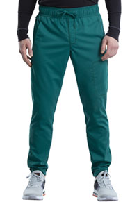 Cherokee Workwear Men's Natural Rise Jogger Hunter Green (WW012-HUN)