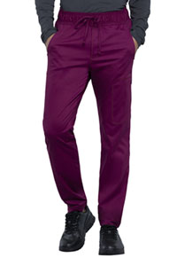Cherokee Workwear Men's Natural Rise Straight Leg Jogger Wine (WW012-WIN)