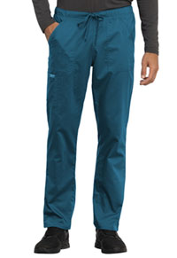 Cherokee Workwear Unisex Tapered Leg Drawstring Pant Caribbean Blue (WW020-CAR)
