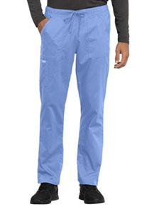 Cherokee Workwear Unisex Tapered Leg Drawstring Pant Ciel Blue (WW020-CIE)
