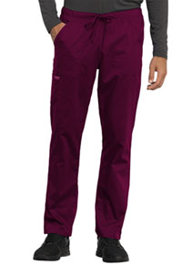 Cherokee Workwear Unisex Tapered Leg Drawstring Pant Wine (WW020-WIN)