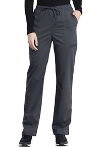 Cherokee Workwear Mid Rise Straight Leg Drawstring Pant Pewter (WW041AB-PWT)