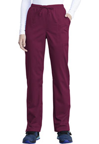 Cherokee Workwear Mid Rise Straight Leg Drawstring Pant Wine (WW041AB-WIN)