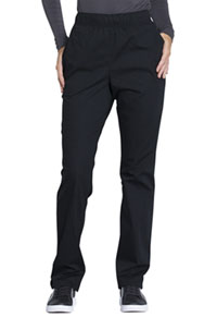 WW Professionals Natural Rise Tapered Leg Drawstring Pant (WW050-BLK) (WW050-BLK)