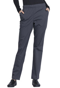 Cherokee Workwear Natural Rise Tapered Leg Drawstring Pant Pewter (WW050-PWT)