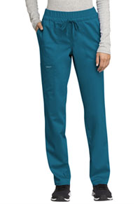 Cherokee Workwear Mid Rise Tapered Leg Drawstring Pant Caribbean Blue (WW105-CAR)