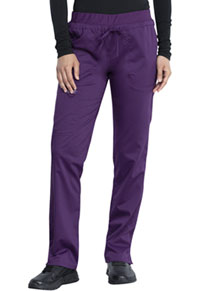 Cherokee Workwear Mid Rise Tapered Leg Drawstring Pant Eggplant (WW105-EGG)