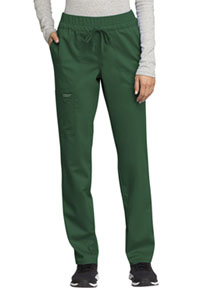 Cherokee Workwear Mid Rise Tapered Leg Drawstring Pant Hunter Green (WW105-HUN)