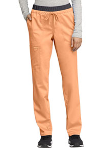 Cherokee Workwear Mid Rise Tapered Leg Drawstring Pant Mango Smoothie (WW105-MTHY)