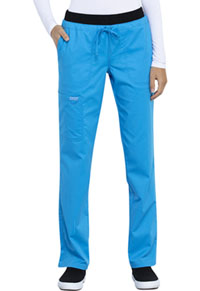 Cherokee Workwear Mid Rise Tapered Leg Drawstring Pant Mythic Blue (WW105-MTYC)